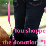 "You Put the Dog Donation ""In the Bag!"""