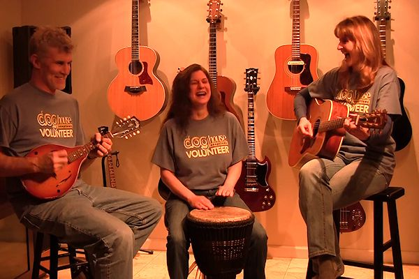 DHA volunteers - Tim Clune, Audra Bentley, Kim Clune