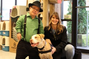 Shorty Rossi with Kim Clune, Dog House Adoptions